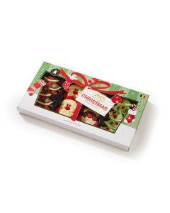 Belgisk Julesjokolade Nisser og Juletrær 8pk