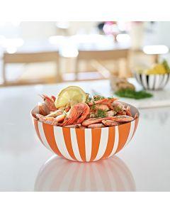 Cathrineholm Bolle Stripete Orange 24 cm