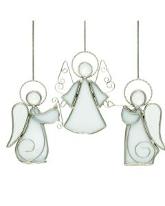 Hadeland Glassverk Tiffany Engel 3pk Hvit