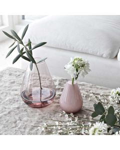 Wik & Walsøe Falla Glassvase 15cm Klar Rosa
