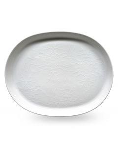 Wik & Walsøe Whitewood Fat Ovalt 36cm White