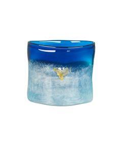 Hadeland Glassverk Hjerte Vase Blå