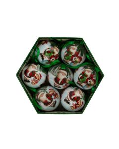 Julekuler-Julenisse Grønn- 7pk