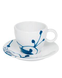 Porsgrunds Porselænsfabrik Maxistrå Blå Kopp Cappuccino 20cl