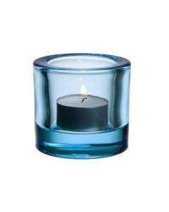 Iittala Kivi Lyslykt 6cm Lysblå I