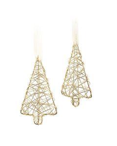 Hadeland Glassverk Christmas Collection Metall Tre 2pk