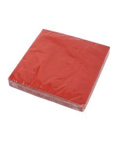 Røde Servietter 33 X 33 Cm