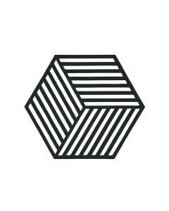 Zone Denmark Bordskåner Black Hexagon 16x14 cm